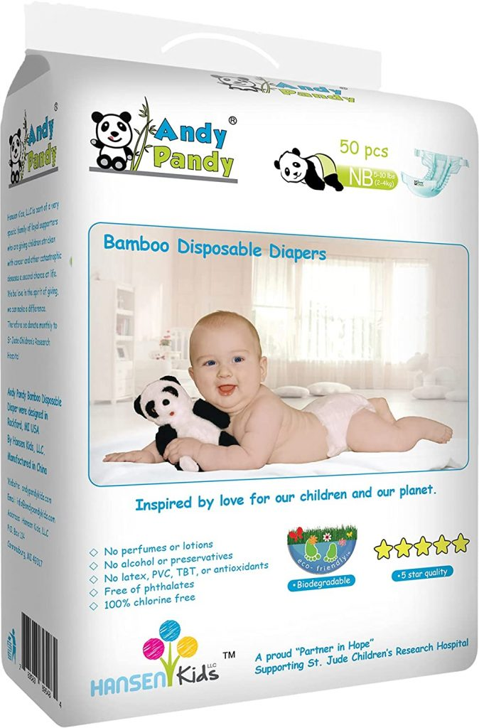 Andy Pandy Biodegradable Premium Bamboo Disposable Diapers